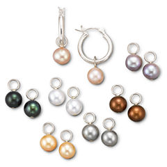 Cultured Freshwater Pearl Earring 7-PC Set