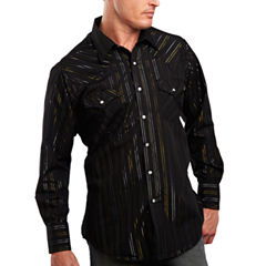 Ely Cattleman® Metallic-Accent Snap Shirt