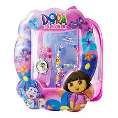 Dora Watch & Flower Bracelet Gift Set