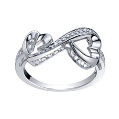 Love Grows™ 1/10 CT. T.W. Double Diamond Heart Ring