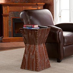Pendleton Brass Studded Accent Table