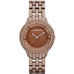 Liz Claiborne® Ladies Brown Watch with Crystals