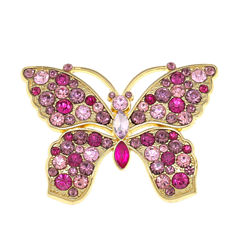 Monet® Pink Crystal Butterfly Pin