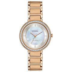 Citizen Womens Rose Goldtone Bracelet Watch-Em0483-54d