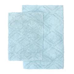 Homewear LInens Diamond Scape 2-pc. Bath Rug Set