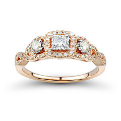Love Lives Forever™ 1/2 CT. T.W. White and Champagne Diamond Engagement Ring