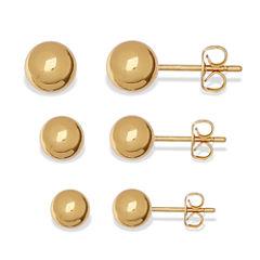 Silver Reflections™ Ball Stud 3-pr. Earrings