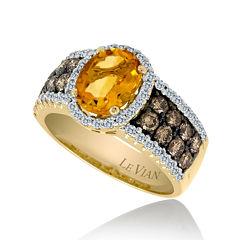 LIMITED QUANTITIES Grand Sample Sale™ by Le Vian® Cinnamon Citrine® and 1/2 CT. T.W. Chocolate Diamonds® & Vanilla Diamonds® 14K Honey Gold™ Chocolatier® Ring