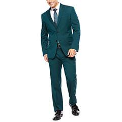 JF J. Ferrar® Teal Suit Separates - Slim-Fit