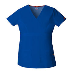Dickies® Womens Mock Wrap Scrub Top
