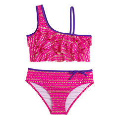 Limited Too Girls Pattern Bikini Set - Big Kid