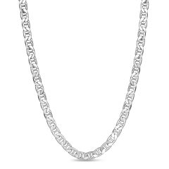 Made In Italy Sterling Silver 24 Inch Chain Necklace