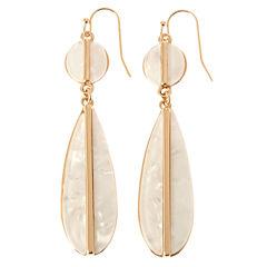 Natasha Accessories White Drop Earrings