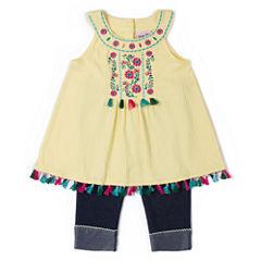 Little Lass 2-pc. Legging Set-Toddler