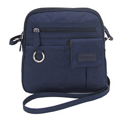 St. John's Bay North South Mini Zip Around Crossbody Bag