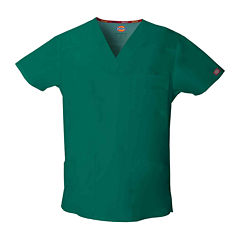 Dickies® Mens V-Neck Scrub Top–Big & Tall