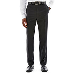 Claiborne® Black Solid Flat-Front Stretch Suit Pants - Classic Fit