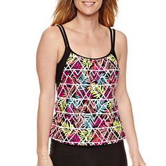 Splashletics Leaf Tankini Swimsuit Top