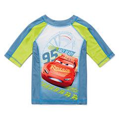 Disney Boys Cars Rash Guard-Big Kid