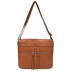 east 5th Leather Front Pocket Hobo Bag