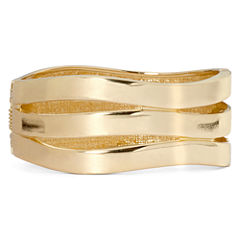 Worthington® Gold-Tone Wave Hinged Bracelet