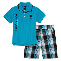 U.S. Polo Assn. 2-pc. Short Set Boys