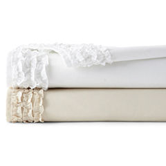 JCPenney Home™ 300tc Easy Care Ruffle Set of 2 Pillowcases