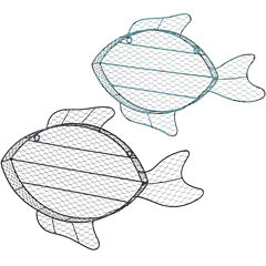 2-pc. Fish Cubby Wall Shelves