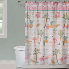 Saturday Knight Flamingo Shower Curtain