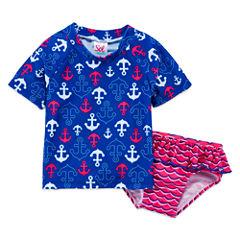 Pattern Rash Guard Set - Toddler