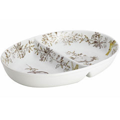 BonJour® Fruitful Nectar Porcelain Divided Dish