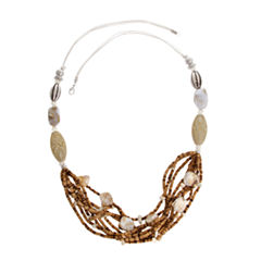 EL by Erica Lyons El By Erica Lyons Silver Over Brass Beaded Necklace