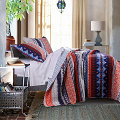 Greenland Home Fashions Urban Boho Reversible Quilt Set