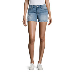 a.n.a Embroidered Denim Short (3 3/4