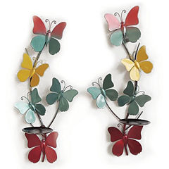Butterfly Candle Holders Wall Decor