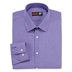 JF J.Ferrar Easy-Care Stretch Long Sleeve Broadcloth Dress Shirt - Slim
