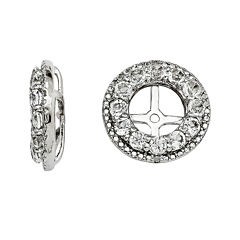 Genuine White Topaz and Diamond Accent Earring Jackets