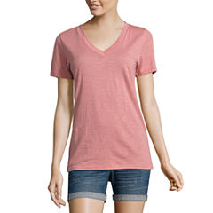 Arizona Short-Sleeve V-Neck T-Shirt - Juniors