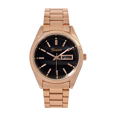 Geneva Womens Rose-Tone Strap Bracelet Watch
