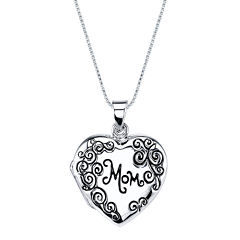Inspired Moments™ Mom Sterling Silver Locket Pendant Necklace