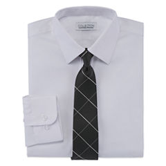 Collections By Michael Strahan Shirt + Tie Set -8-20