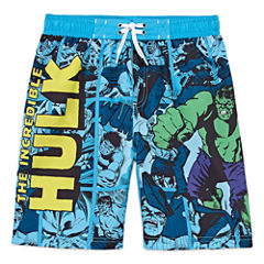 Boys Hulk Swim Trunks-Preschool