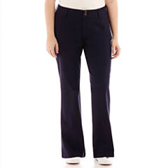 Arizona Schoolgirl Bootcut Pants - Juniors Plus