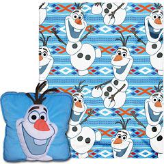 Disney Frozen Olaf Throw and Pillow Set