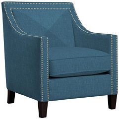 Jessica Accent ChairAccent Chairs. Aqua Leather Accent Chair. Home Design Ideas