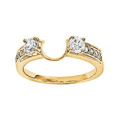 14K Yellow Gold 5/8 CT. T.W. Diamond  Ring Enhancer
