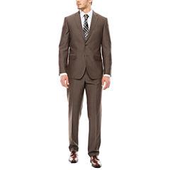 JF J. Ferrar® End on End Taupe Slim-Fit Suit Separates