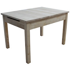 Juvenile Storage Kids Table + Chairs-Natural