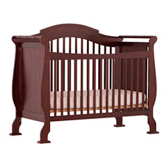 Storkcraft Valentia 4-in-1 Convertible Crib- Cherry