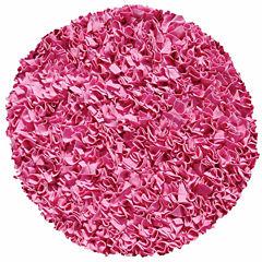 Rug Market Shaggy Raggy Rug- Bubble Gum